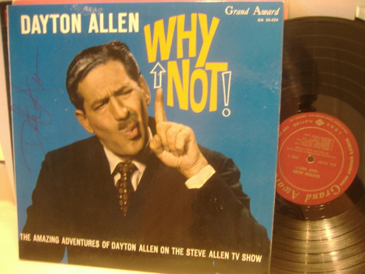 Allen, Dayton-Why Not! Signed LP