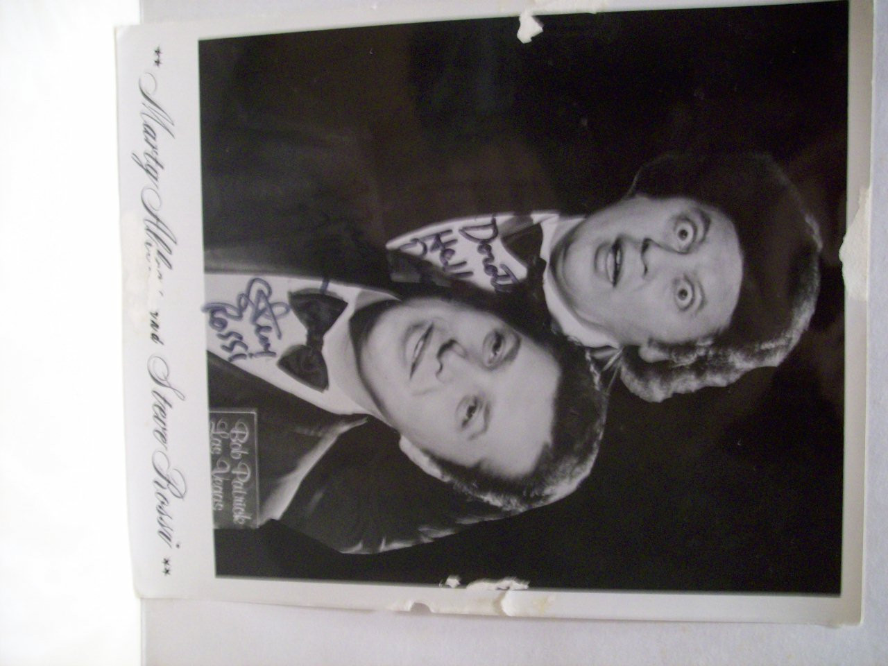 Allen, Marty Steve Rossi Photo Signed Autograph Black And White