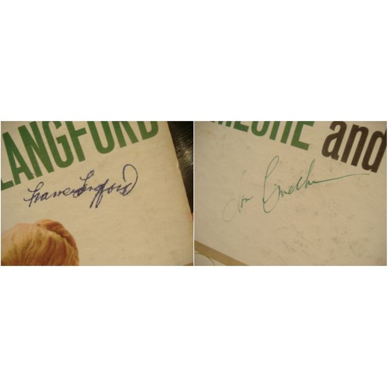 Ameche, Don Frances Langford The Bickersons LP Signed