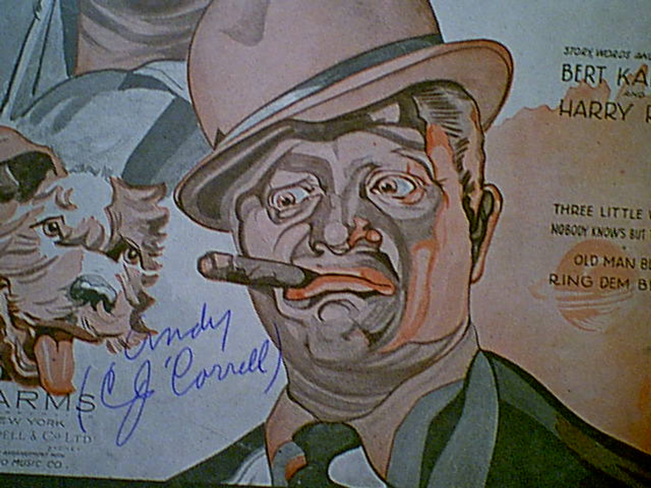 """Amos N Andy Freeman Gosden Charles Correll """"Check And Double Check"""" 1930 Sheet Music Signed Autograph """"Three Little Words"""""""