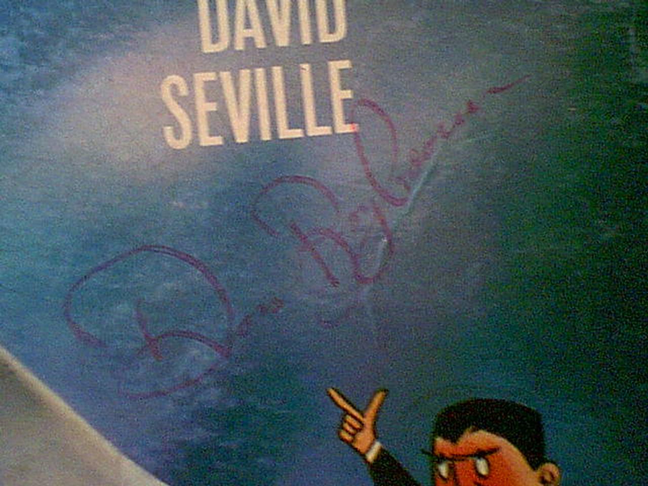 Bagdasarian, Ross Chipmunks 1960 LP Signed Autograph David Seville