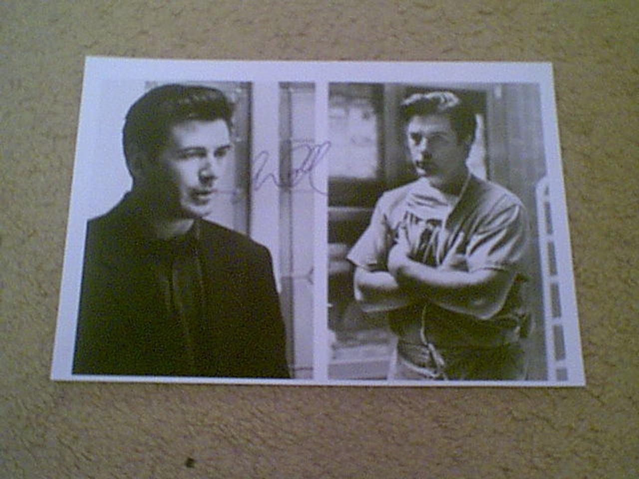 """Baldwin, Alec 1993 Photo """"Malice"""" Signed Autograph 2 Movie Scenes"""