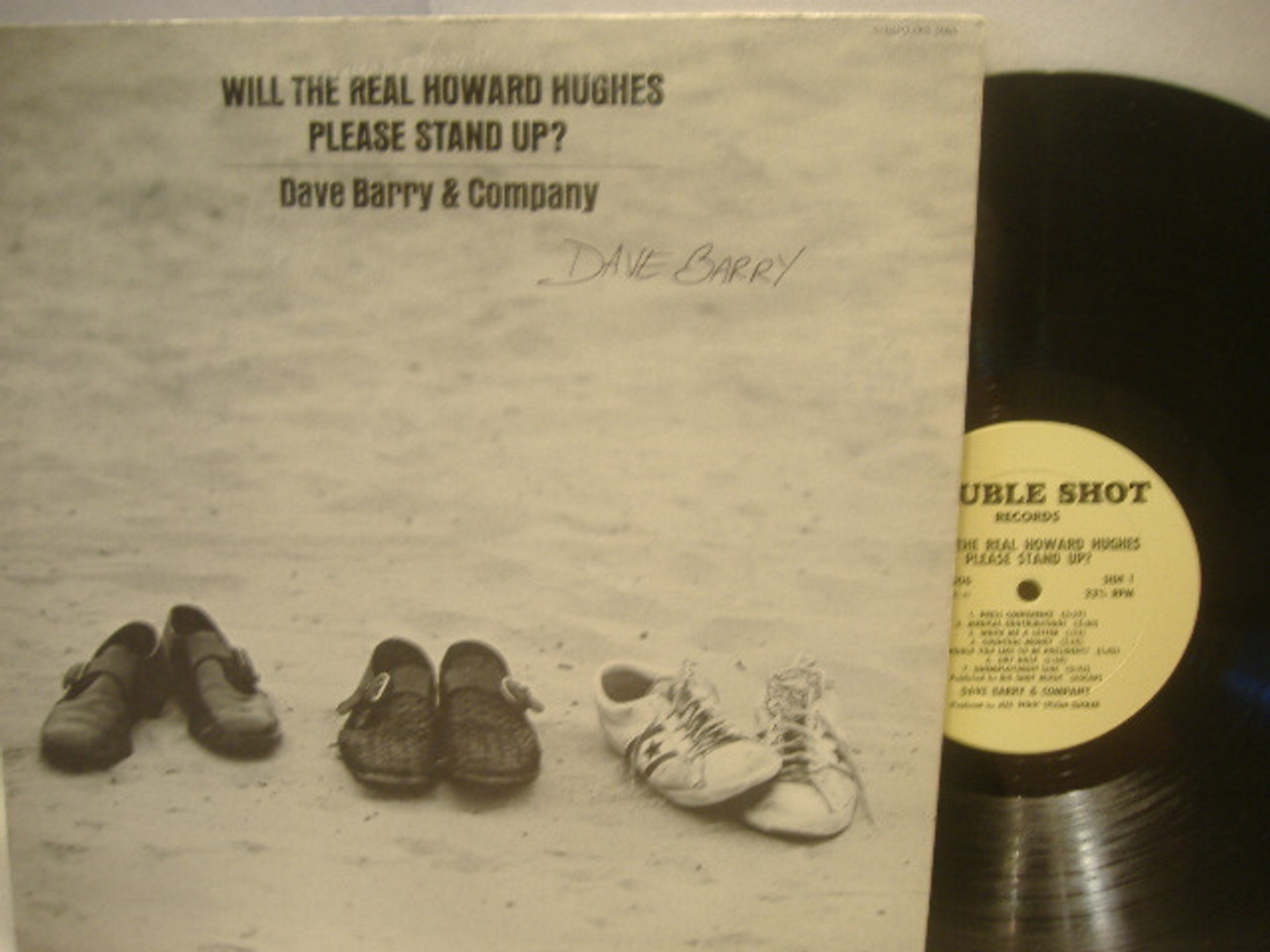 Barry, Dave-Will The Real Howard Hughes Please Stand Up? Signed LP