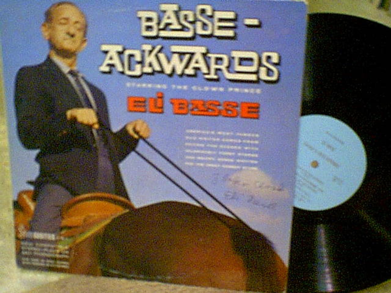 Basse, Eli LP Signed Autograph Basse Ackwards