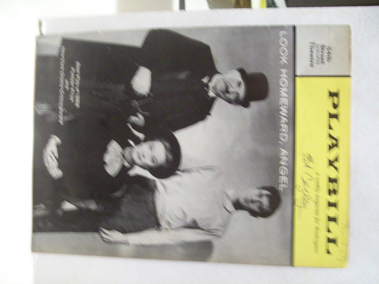 Begley, Ed Playbill Signed Autograph Look Homeward Angel With Original Ticket Stub 1959