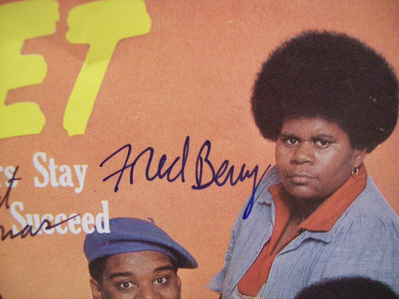 Berry, Fred Ernest Thomas Jet Magazine Signed Autograph What'S Happening! 1978