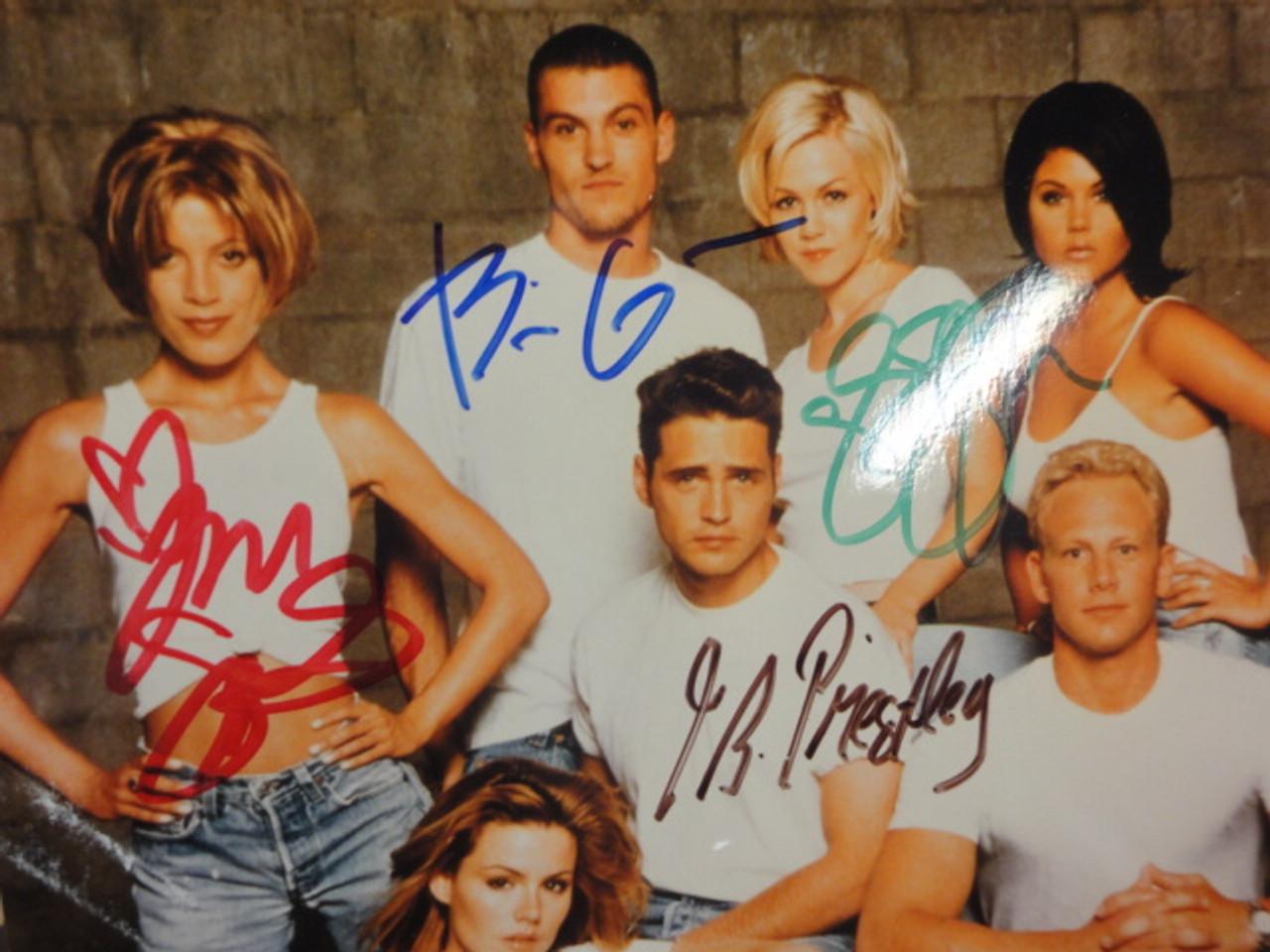 Beverly Hills 90210 Photo Jason Priestley Tori Spelling Jennie Garth Brian Austin Green Signed Autograph