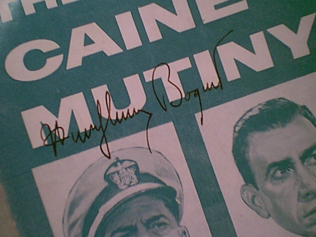 """Bogart, Humphrey Jose Ferrer Van Johnson Fred Macmurray """"The Caine Mutiny"""" 1954 Sheet Music Signed Autograph Theme """"I Can'T Believe That You'Re In Love With Me"""""""