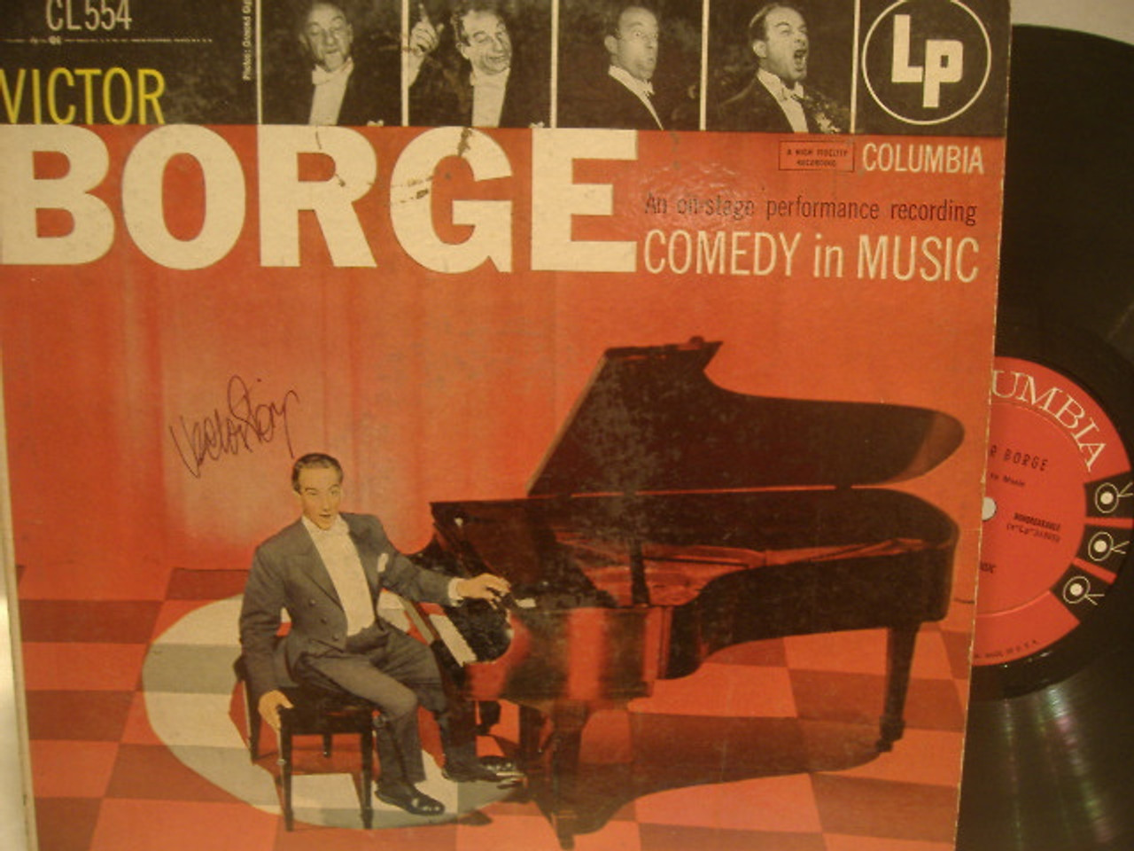 Borge, Victor LP Signed Autograph Comedy In Music