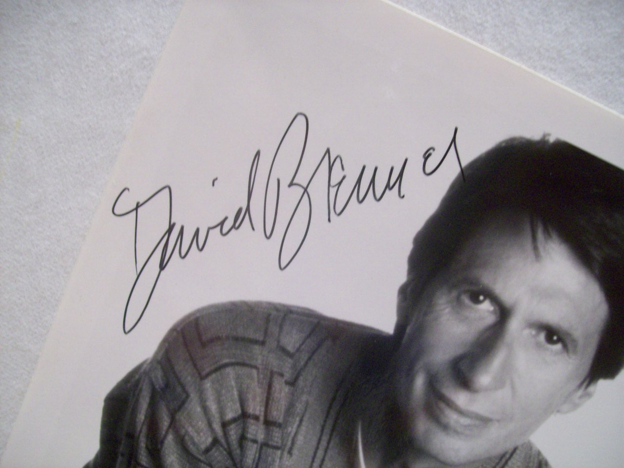 Brenner, David Photo Signed Autograph Comedian Black And White