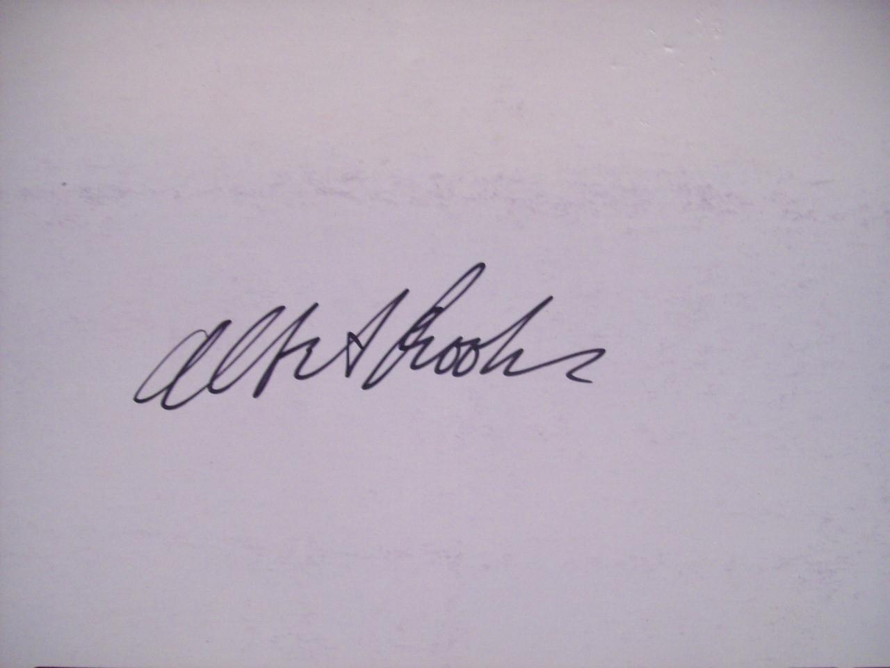 Brooks, Albert Press Kit Signed Autograph Real Life 1979