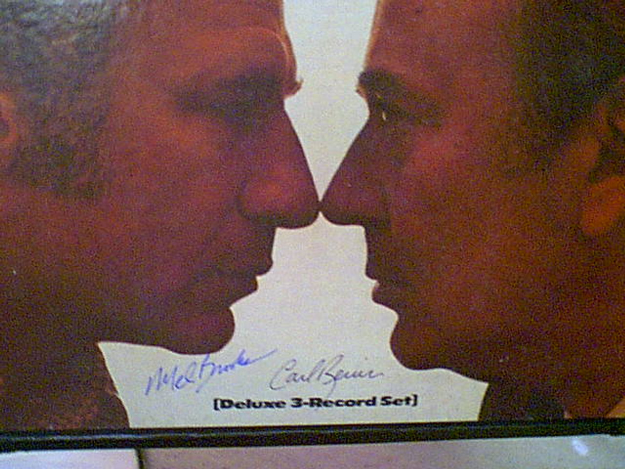 """Brooks, Mel and Carl Reiner """"2000 Year Old Man"""" 1973 Three LP Box Set Signed Autograph Photos """"The Incomplete Works Of"""""""