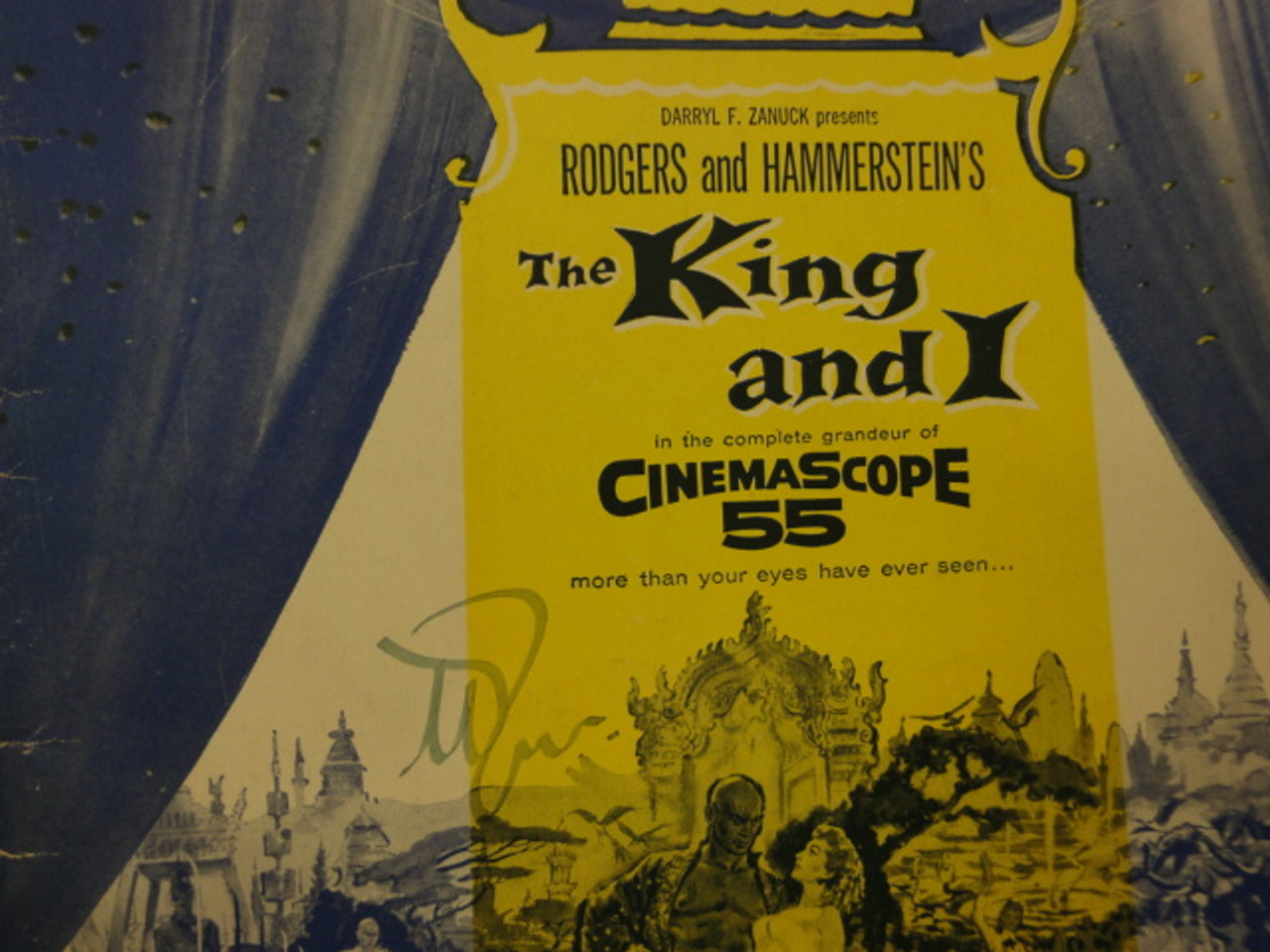 """Brynner, Yul """"The King And I"""" 1956 Movie Songbook Signed Autograph Photos"""