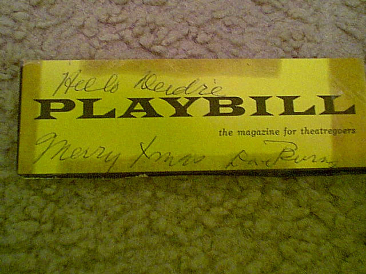 """Burns, Dave """"Funny Girl"""" Playbill 1960 Autograph Signed"""