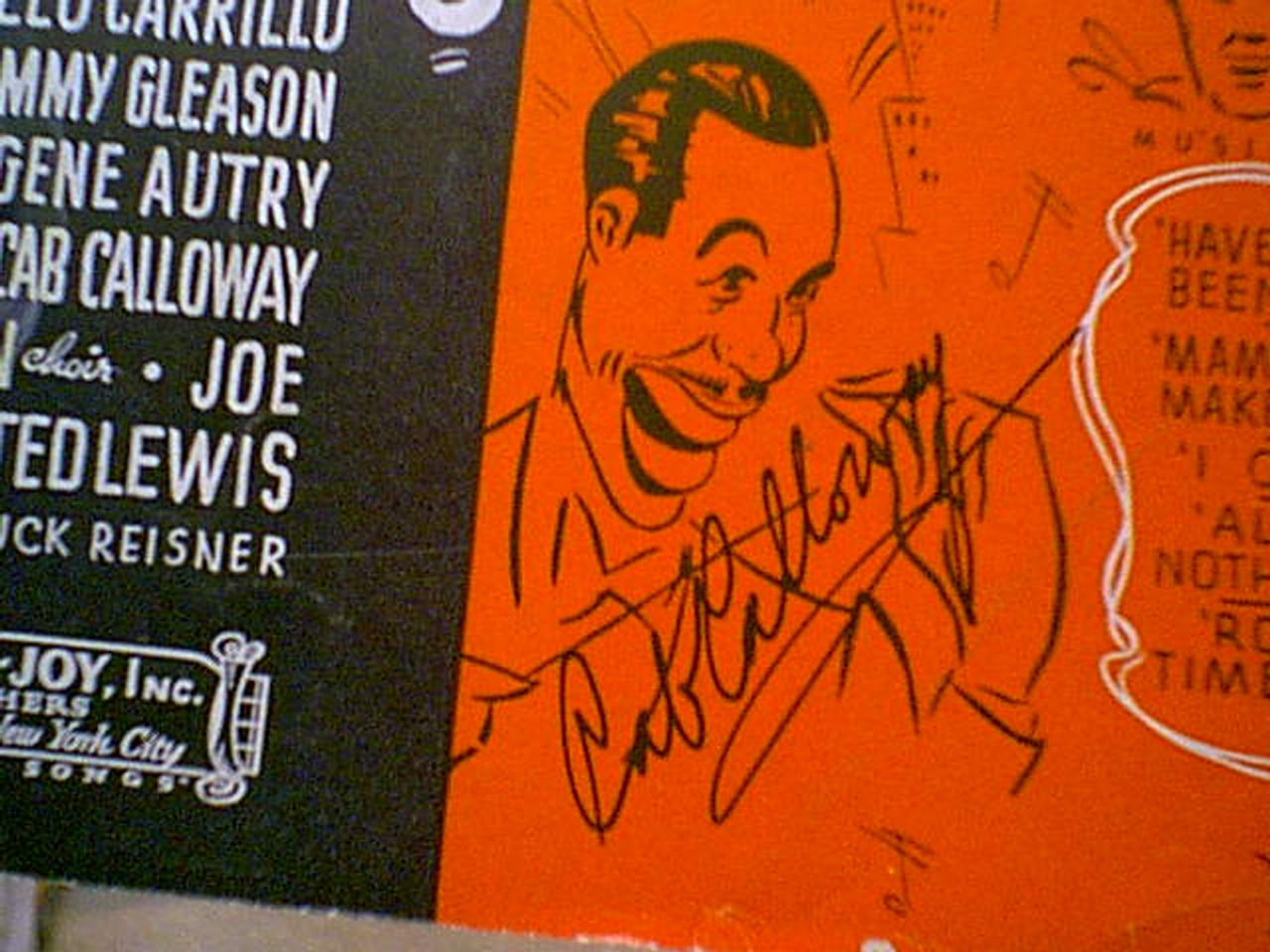 "Calloway, Cab ""Mama I Wanna Make Rhythm"" 1937 Sheet Music Signed Autograph ""Manhattan Merry Go Round"""
