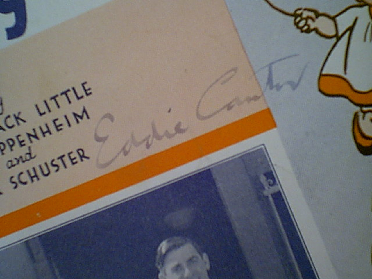 """Cantor, Eddie """"At The Baby Parade"""" 1932 Sheet Music Signed Autograph Photo"""
