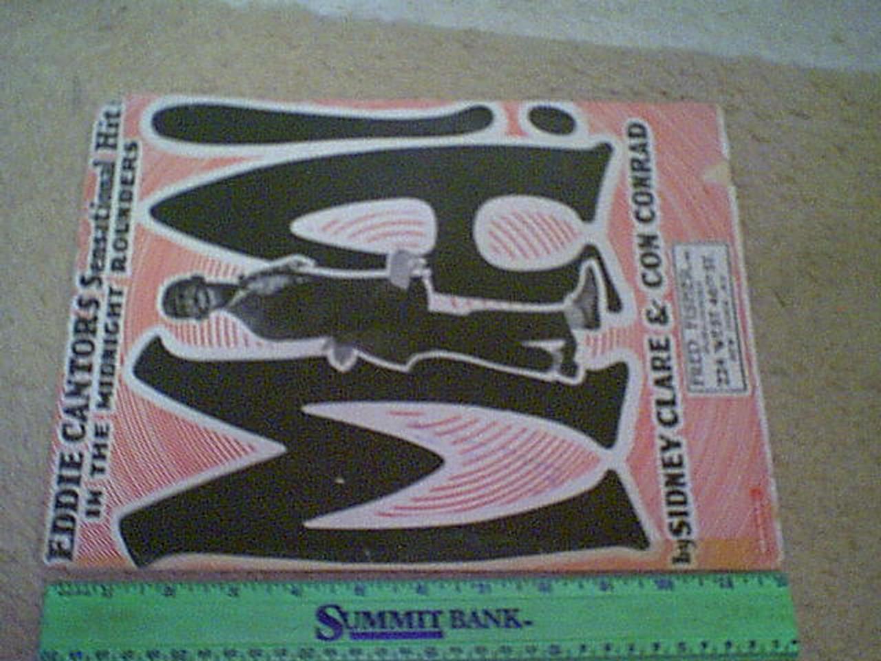 "Cantor, Eddie 1921 Sheet Music ""Ma!"" Signed Autograph Blackface"