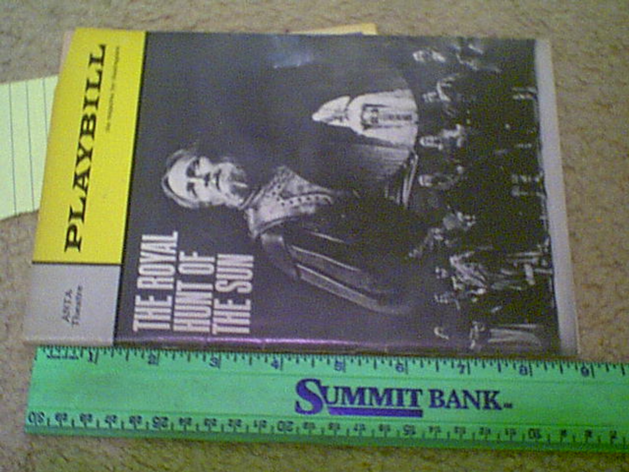 "Carradine, David 1965 Playbill ""The Royal Hunt Of The Sun"" Signed Autograph"
