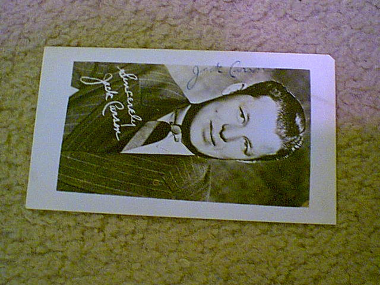Carson, Jack 1940'S Photo Signed Autograph