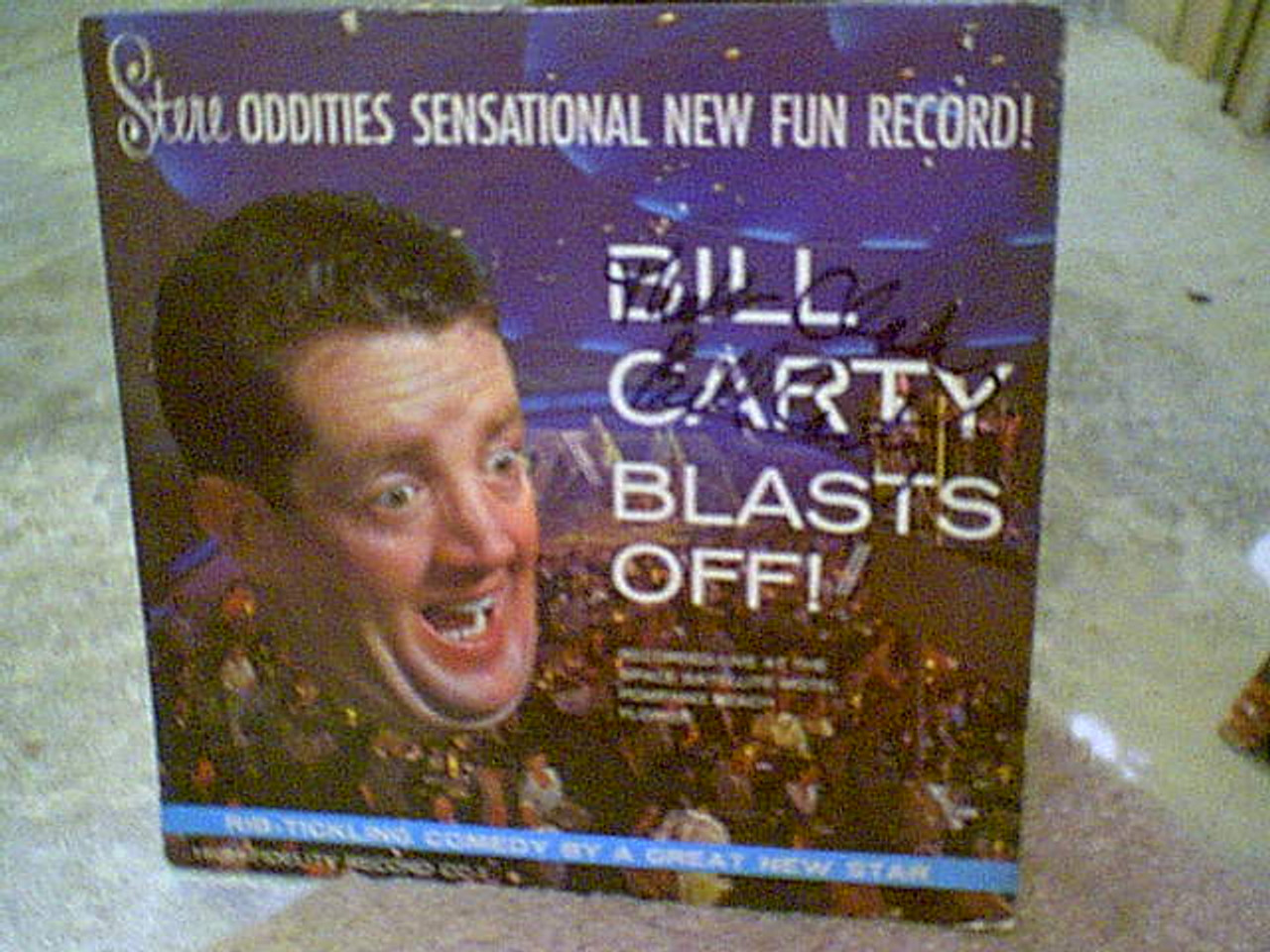 Carty, Bill LP Signed Autograph Blasts Off!