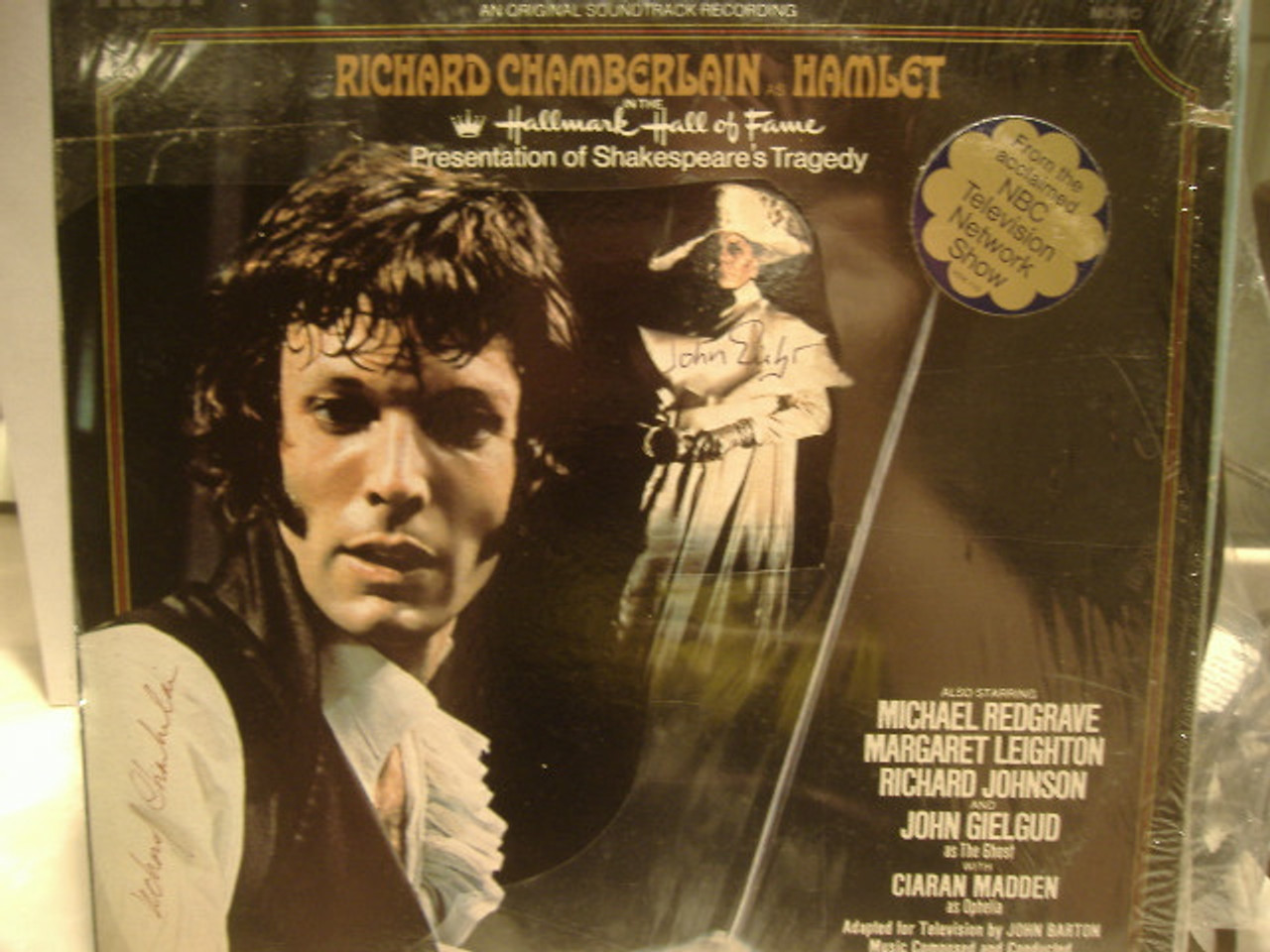 Chamberlain, Richard John Gielgud LP Signed Autograph Sealed Hamlet