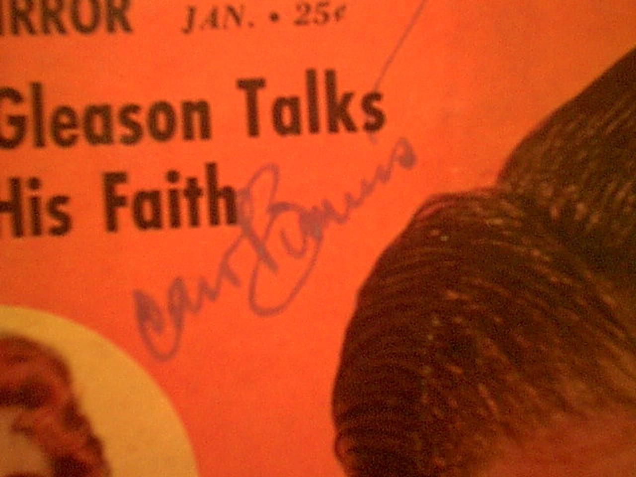 "Clark, Dick and Carol Burnett ""TV Radio Mirror"" Magazine 1961 Signed Autograph Cover Color Photos"