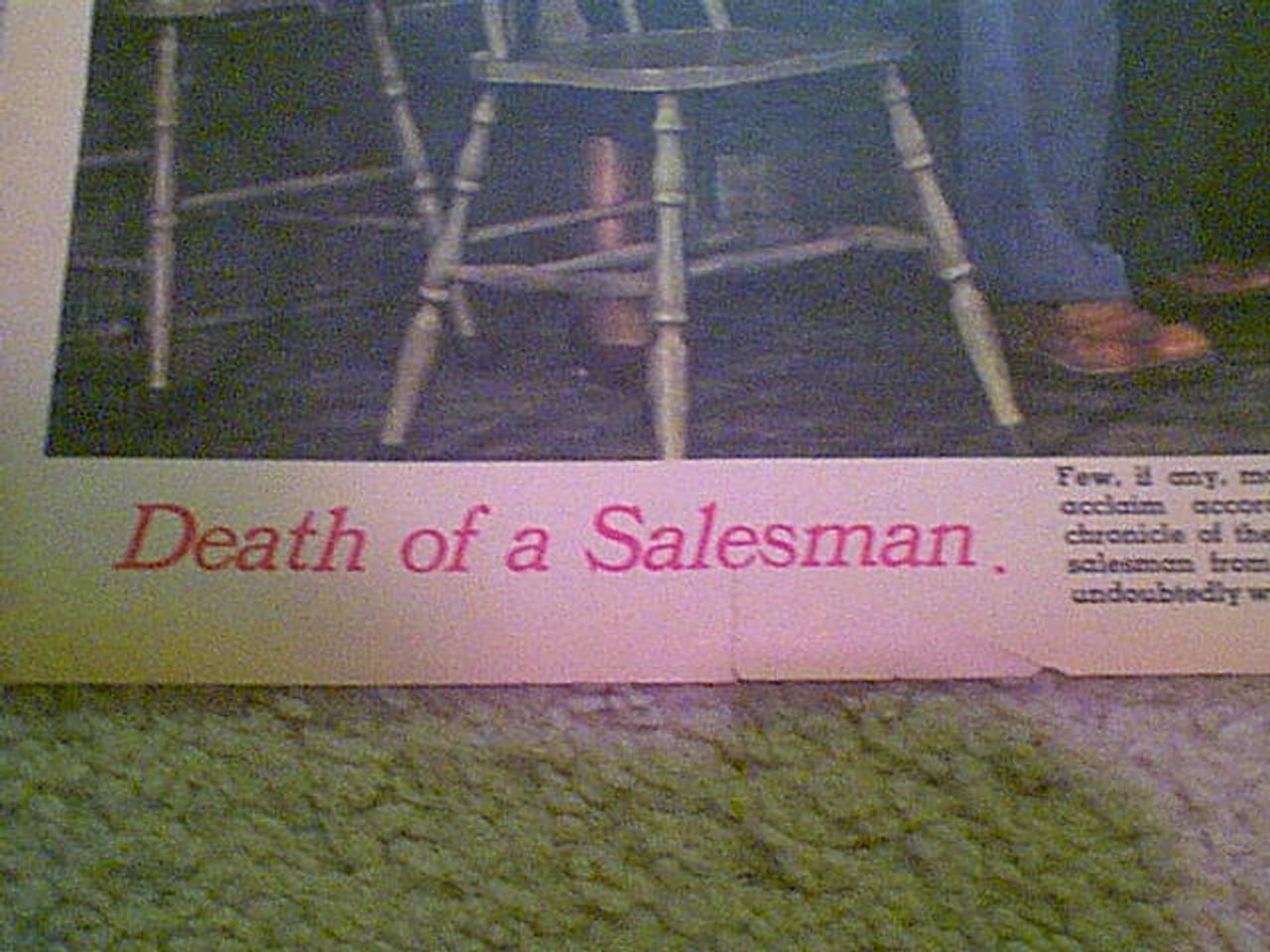 """Cobb, Lee J. 1949 Color Photo Signed Autograph """"Death Of A Salesman"""""""