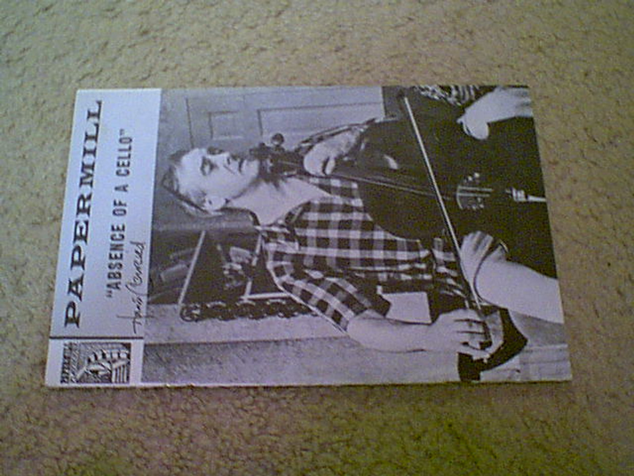 """Conried, Hans """"Absence Of Cello"""" 1965 Papermill Playhouse Theatre Program Signed Autograph"""