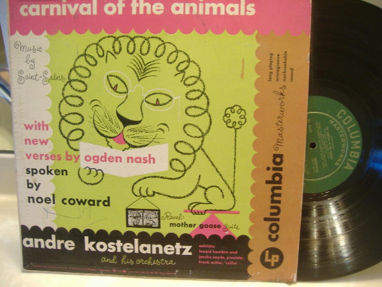 Coward, Noel LP Signed Autograph Carnival Of The Animals Ogden Nash