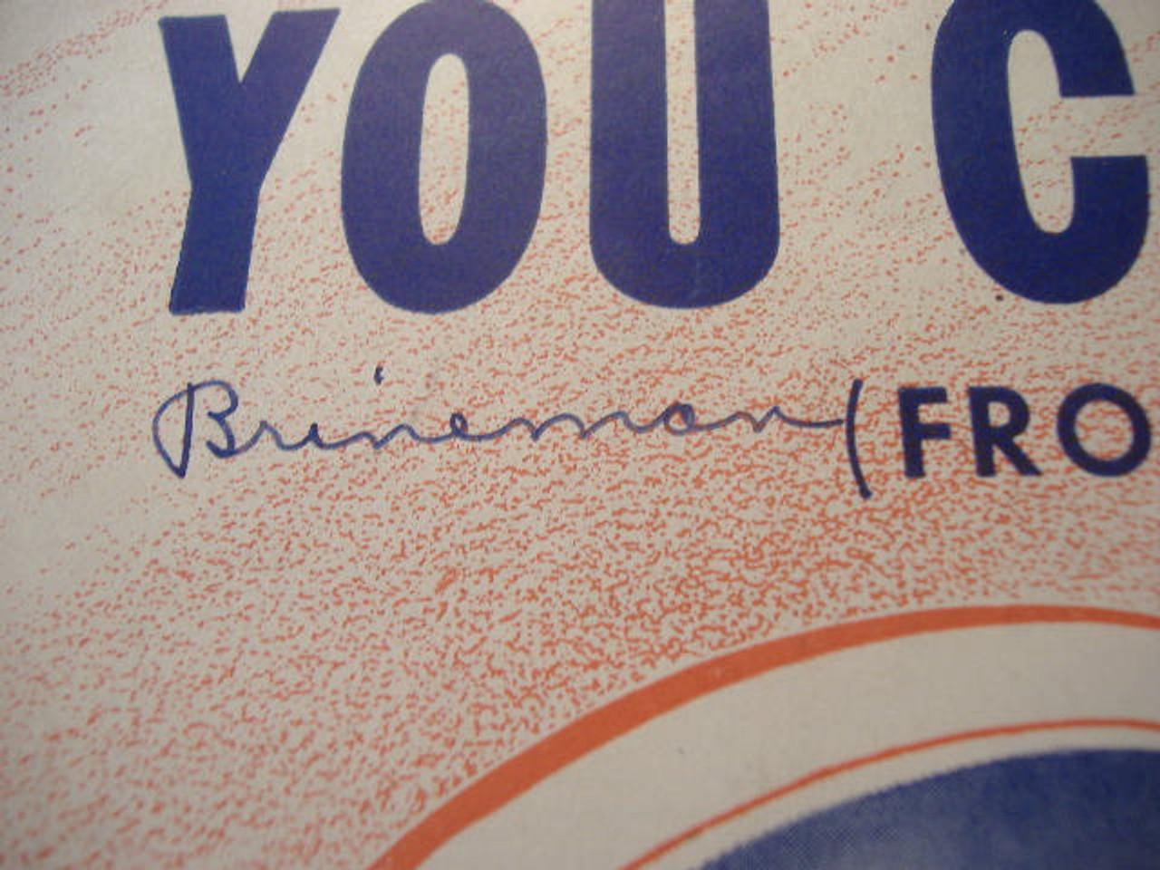 Cummings, Robert Lizabeth Scott Brineman Sheet Music Signed Autograph You Came Along