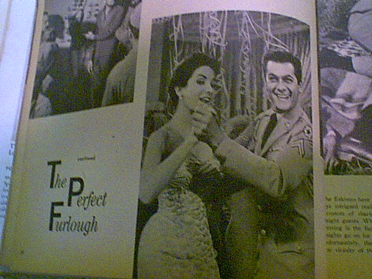 Curtis, Tony and Janet Leigh 1959 Screen Stories Magazine Signed Autograph Color Cover Photo