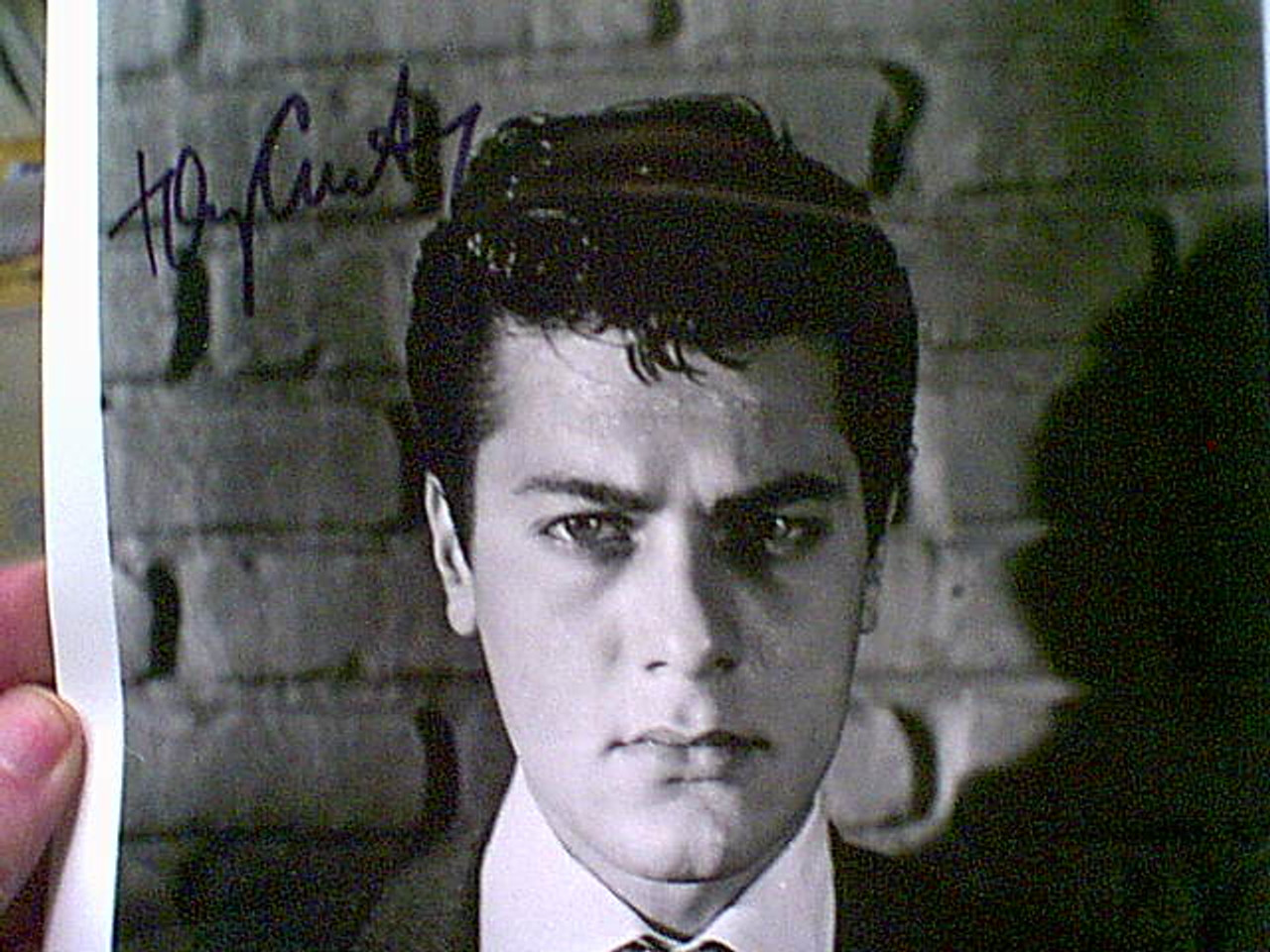 Curtis, Tony Early Photo Signed Autograph Movie Scene