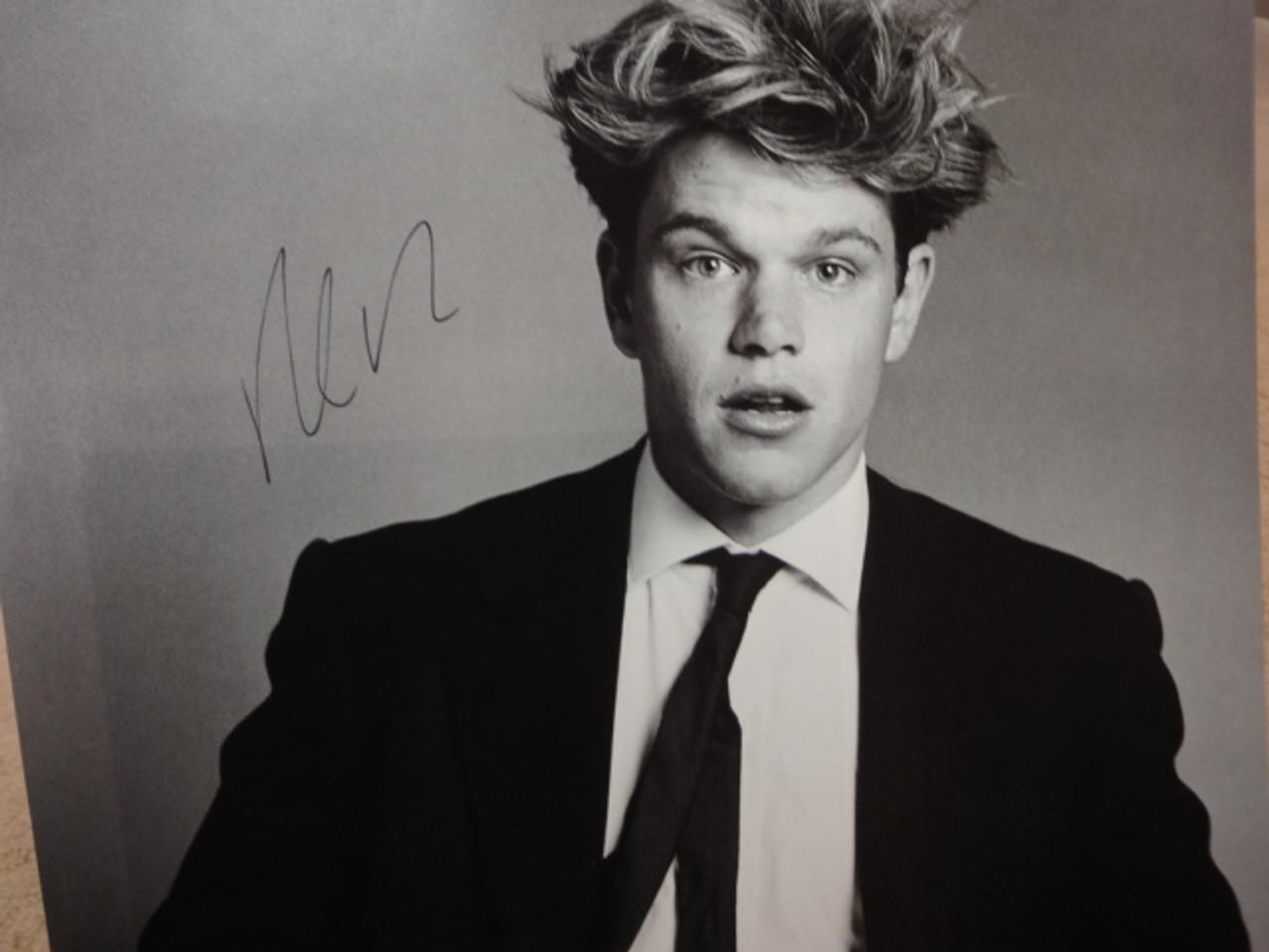 Damon, Matt Photo Signed Autograph Early