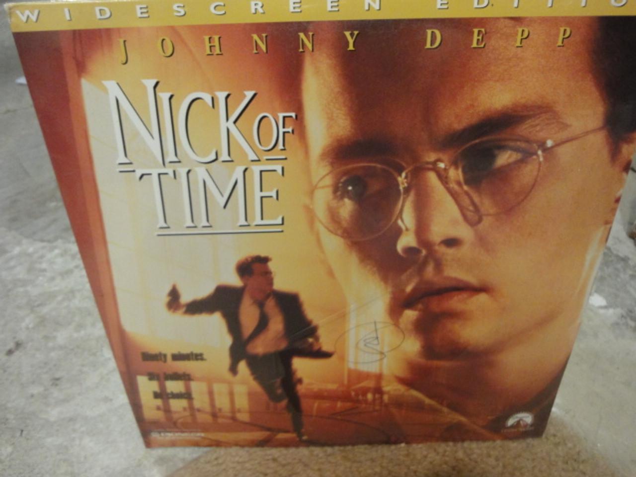 "Depp, Johnny ""Nick Of Time"" Sealed Laserdisc Laser Disc LP Signed Autograph Color Photos"