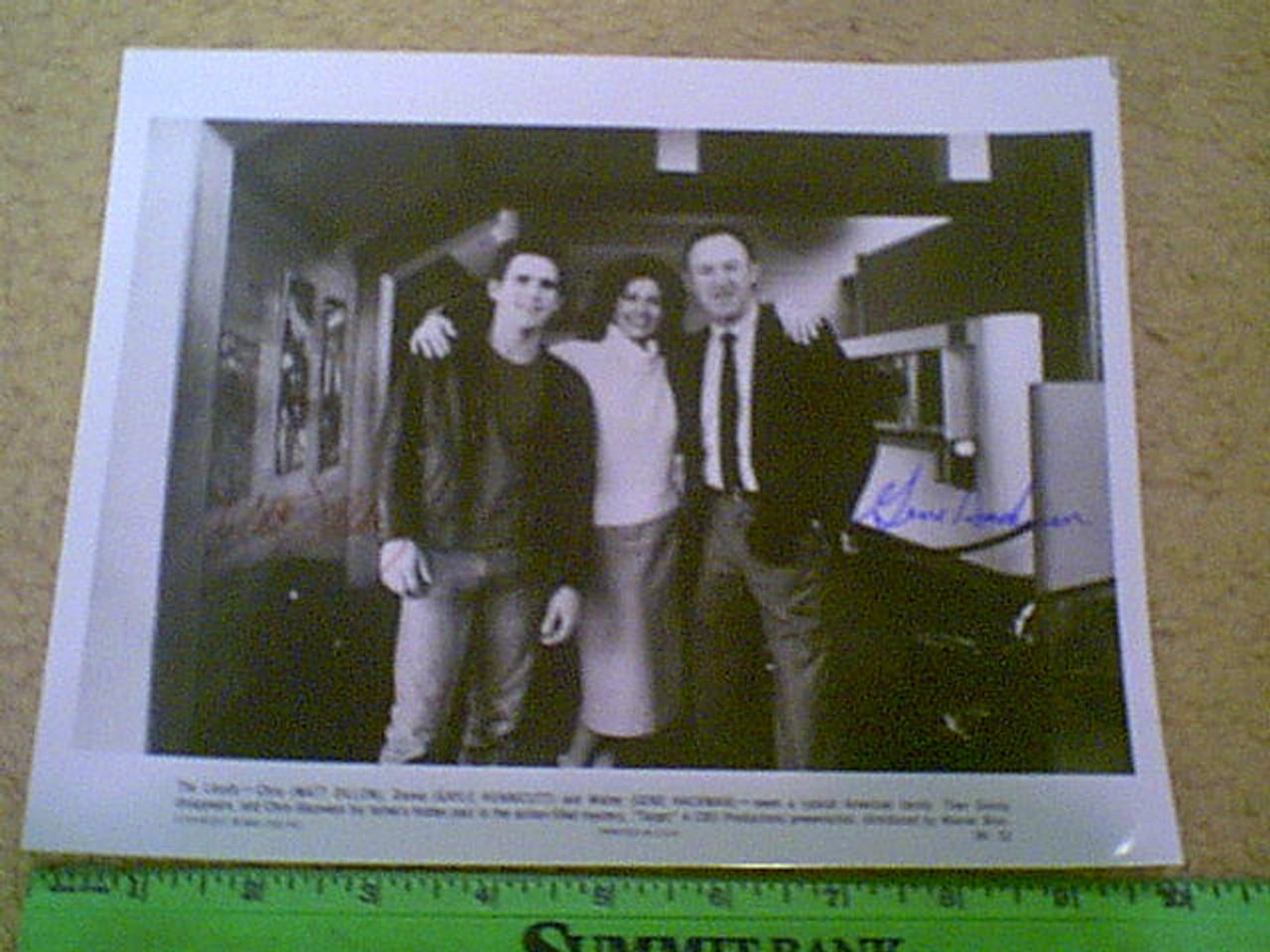 "Dillon, Matt & Gene Hackman ""Target"" 1985 Photo Signed Autograph Movie Scene"