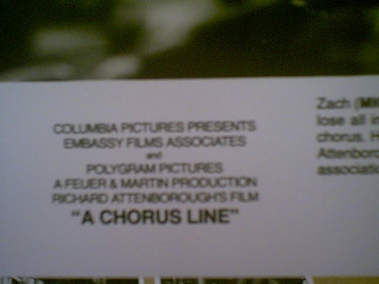 "Douglas, Michael 1985 Photo ""A Chorus Line"" Signed Autograph Set Of 13 Movie Scene Photos"