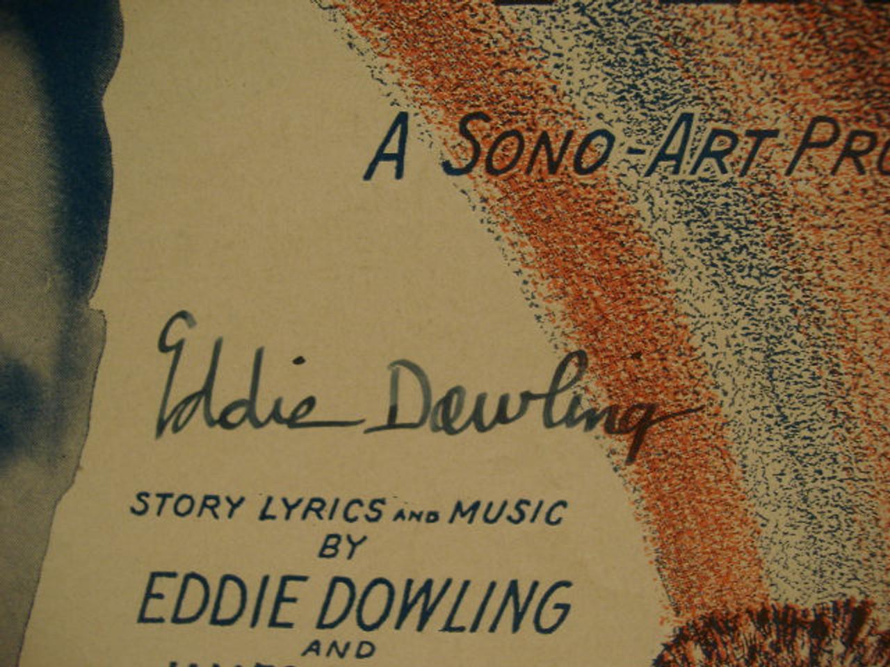 Dowling, Eddie Sheet Music Signed Autograph The Rainbow Man 1929