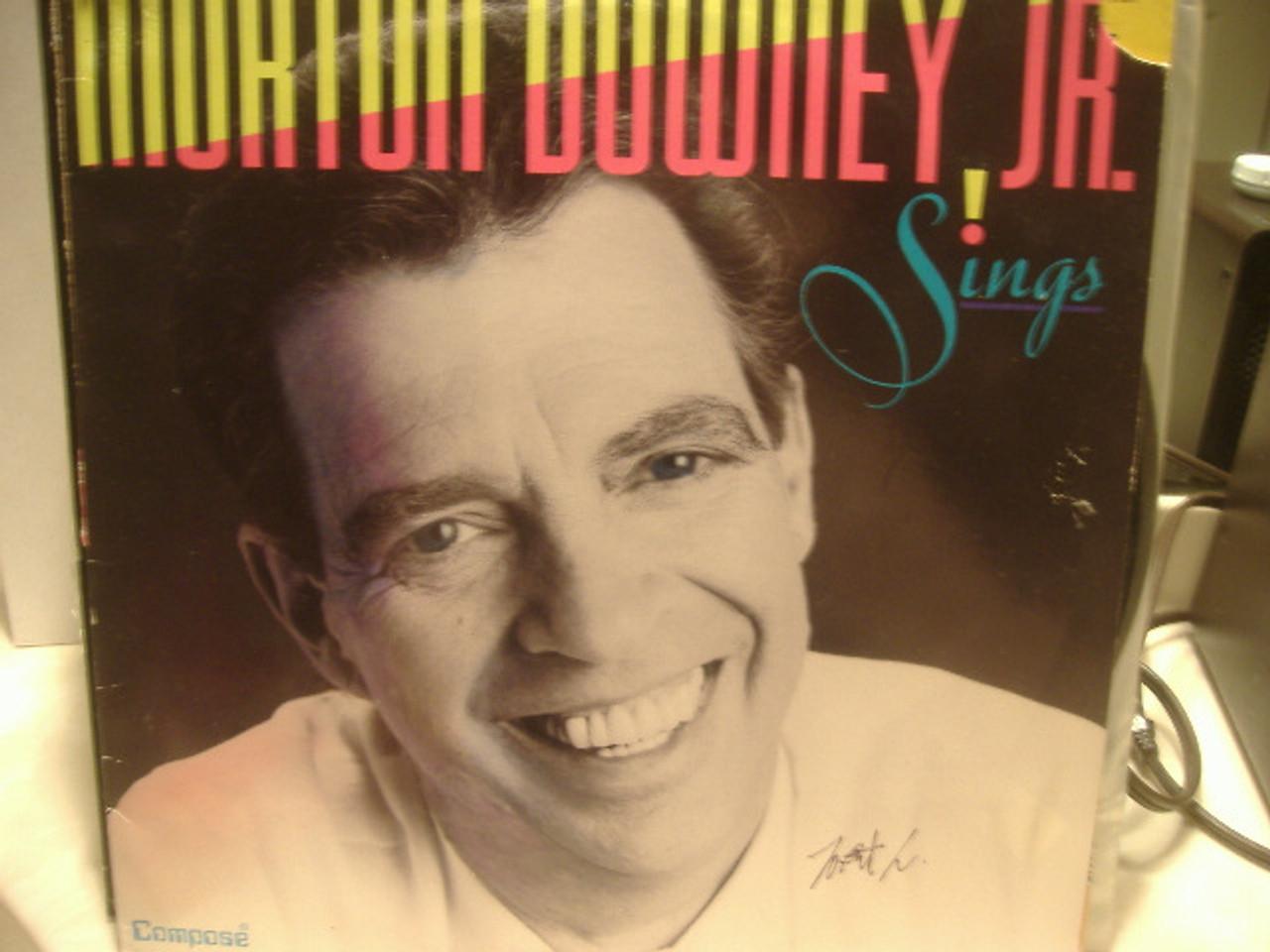 Downey Jr, Morton LP Signed Autograph Sings! 1989