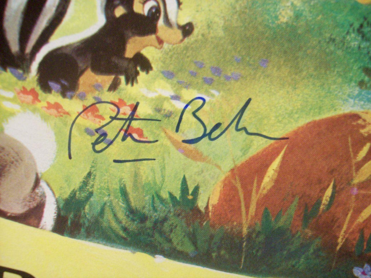 Dunegan, Donnie Connie King Peter Behn LP Signed Autograph Walt Disney'S Bambi Disney Disneyland 1960