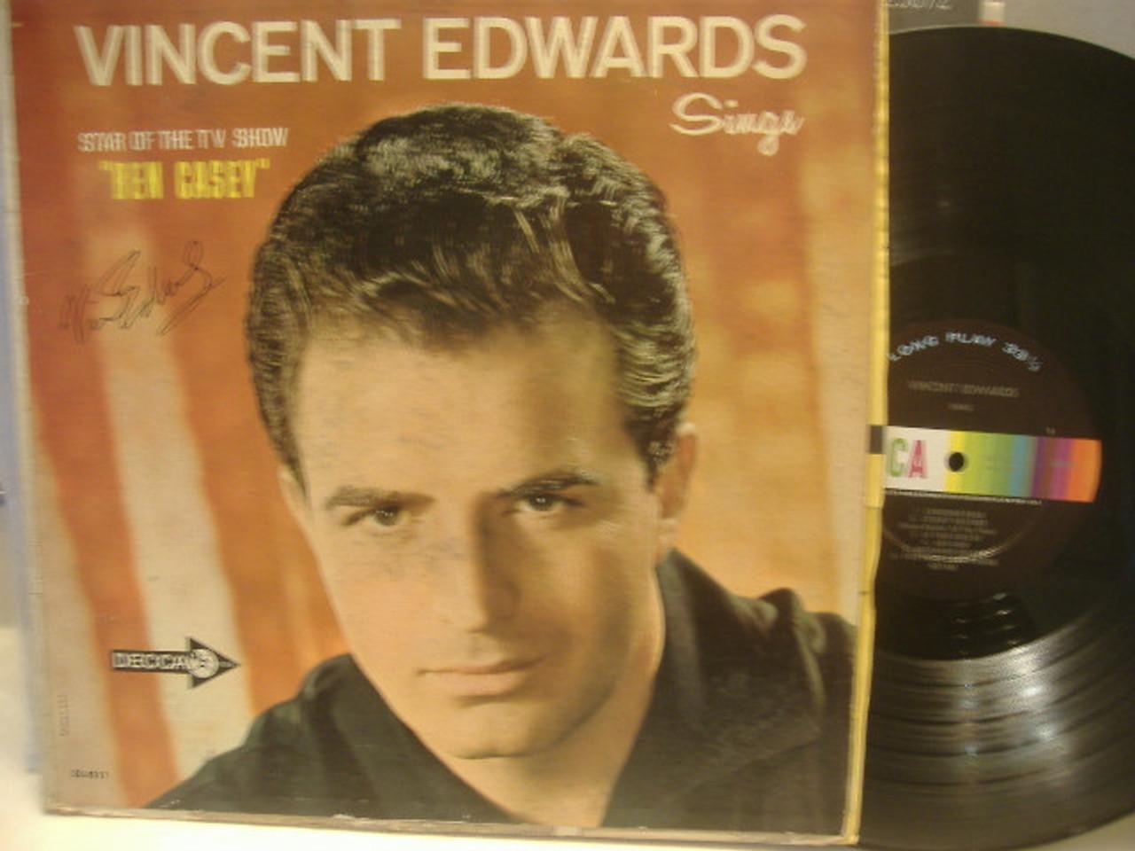 Edwards, Vince Vincent Sings LP Signed Ben Casey