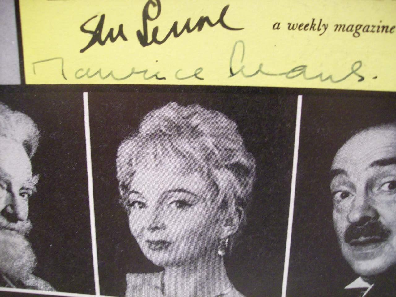 Evans, Maurice Sam Levene Playbill Signed Autograph Heartbreak House 1959