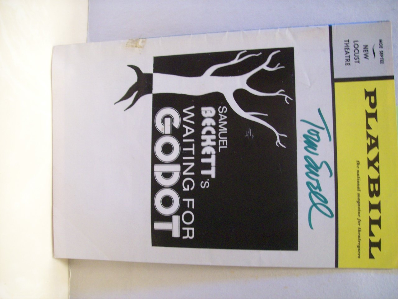 Ewell, Tom Playbill Signed Autograph Waiting for Godot 1973