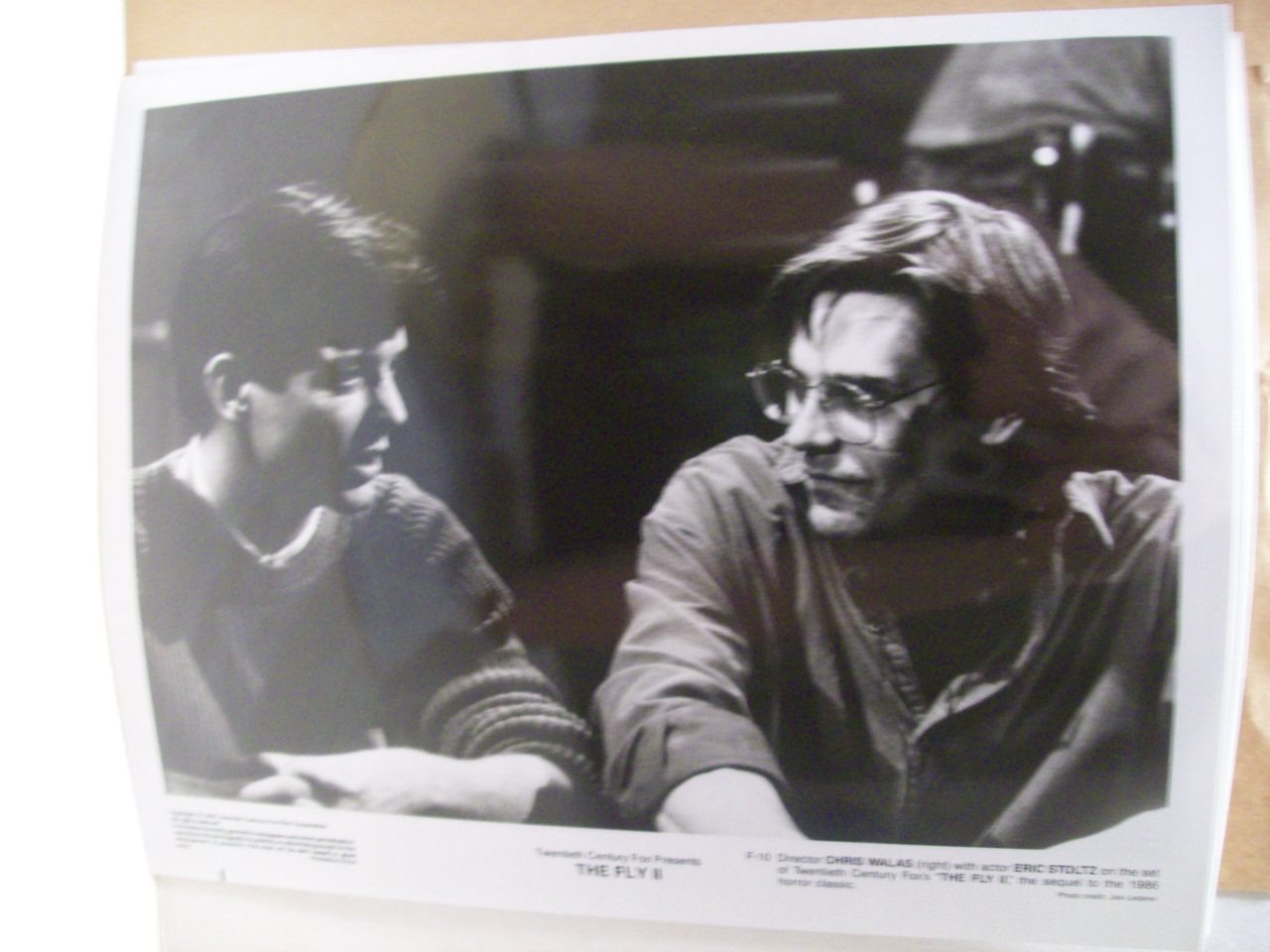 Fly 2 Ii Press Kit Signed By Eric Stoltz Photo Autograph Horror Sci Fi 1989