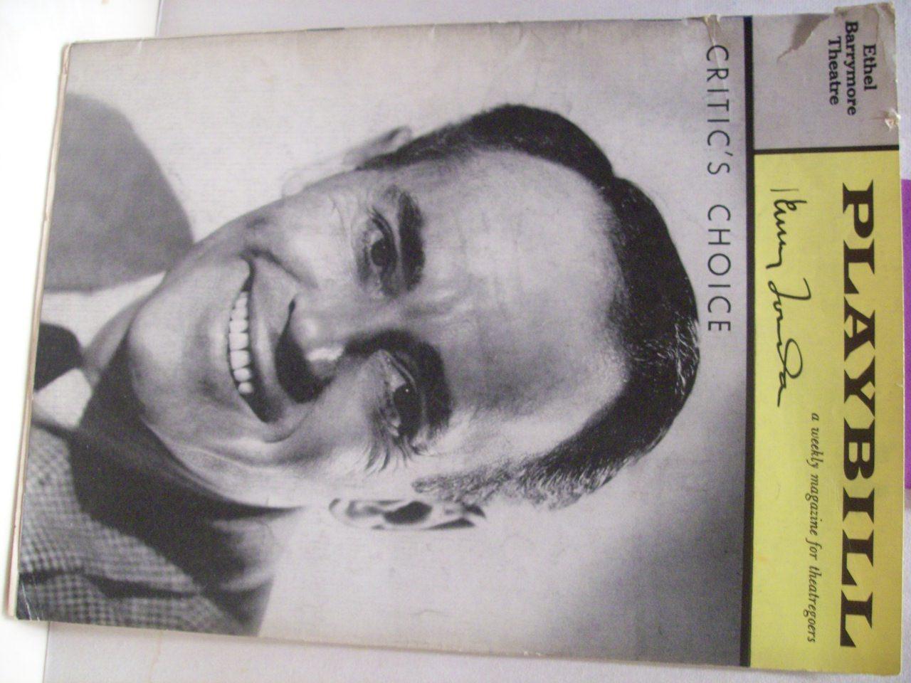 Fonda, Henry Playbill Signed Autograph Critic'S Choice 1961