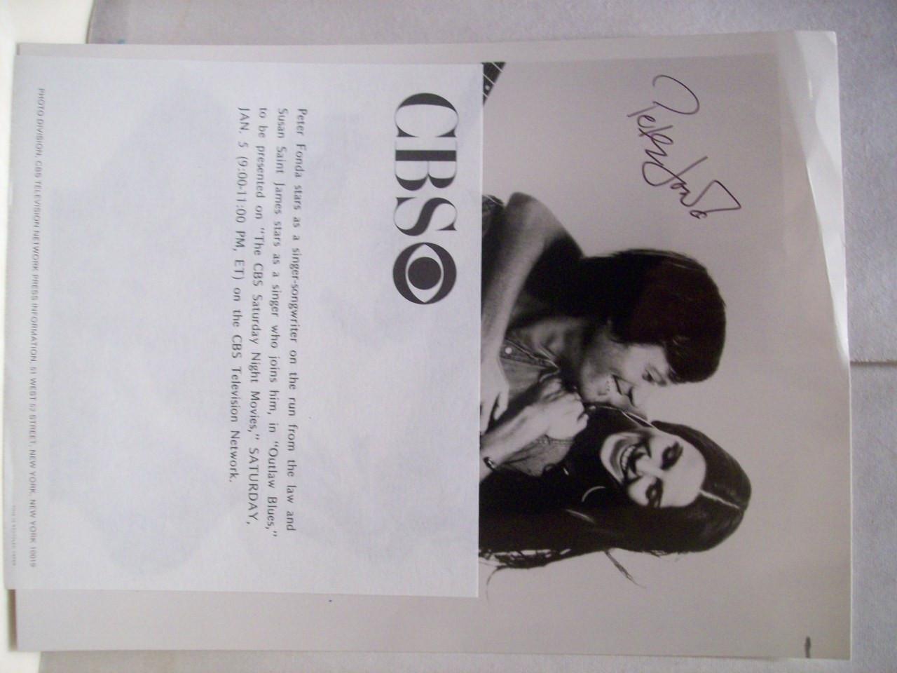 Fonda, Peter Photo Signed Autograph Outlaw Blues 1979