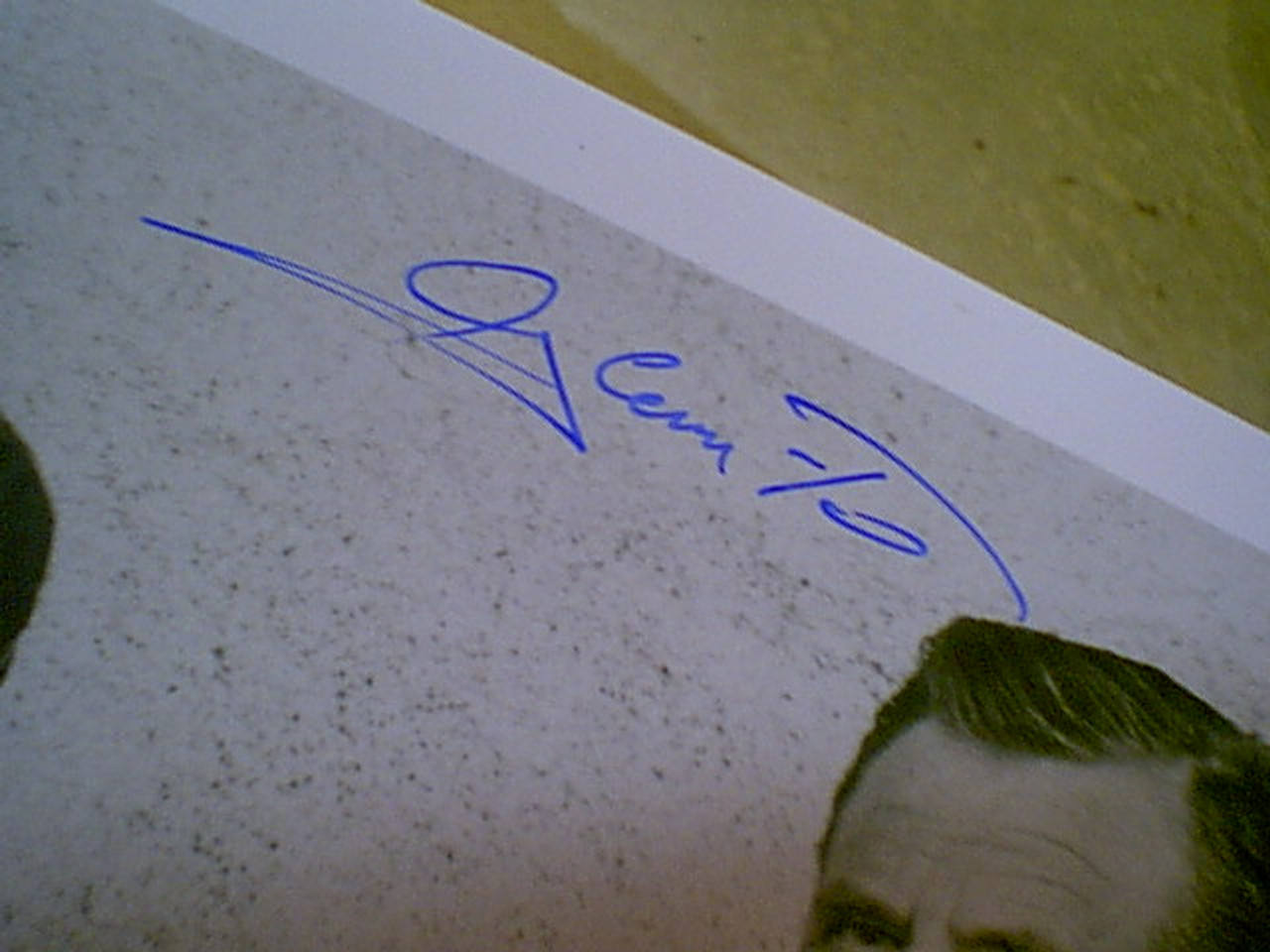 """Ford, Glenn 1986 Photo """"My Town"""" Signed Autograph With Byline Disney"""