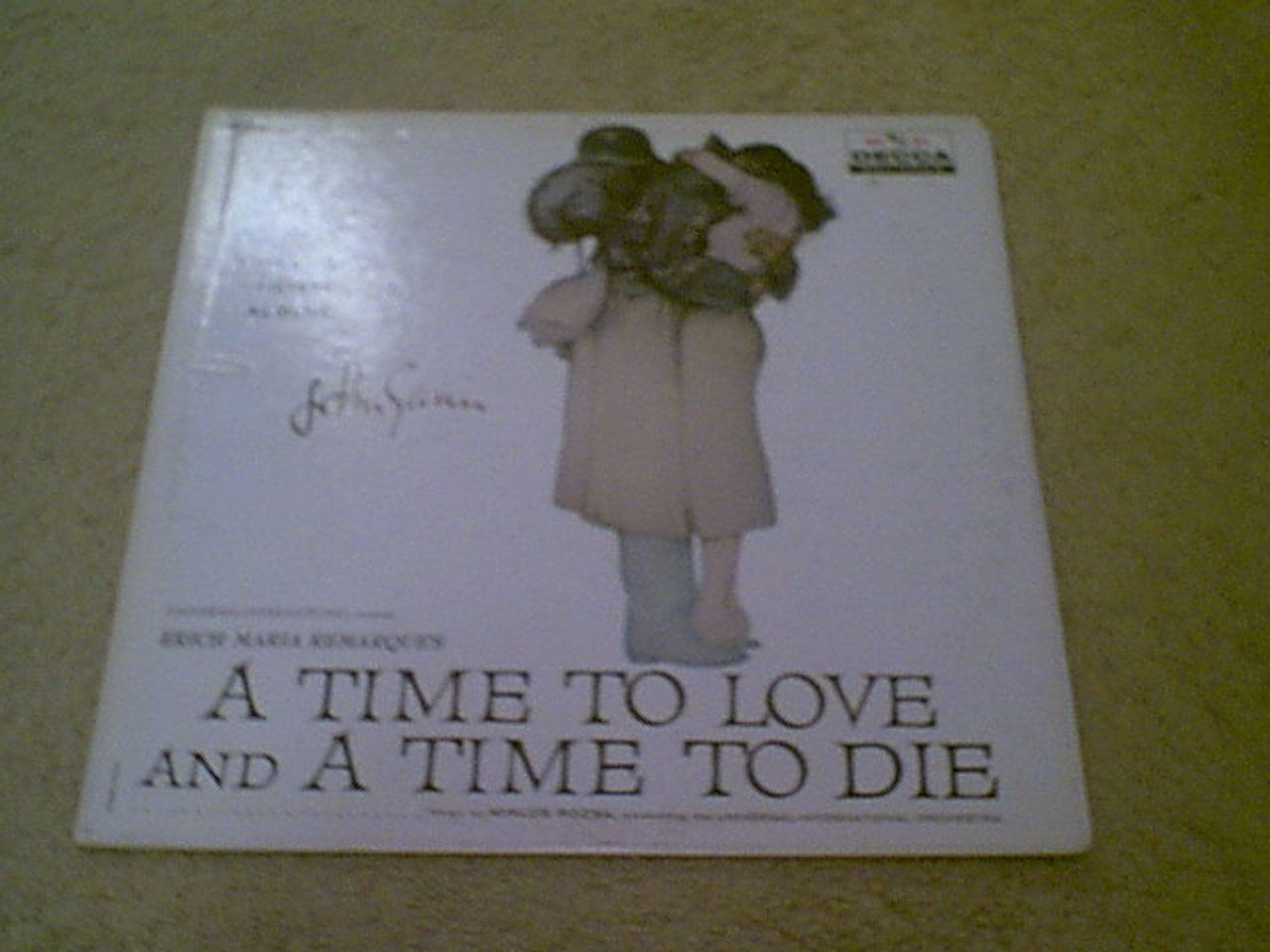 """Gavin, John """"A Time To Love And A Time To Die"""" 1958 LP Signed Autograph"""