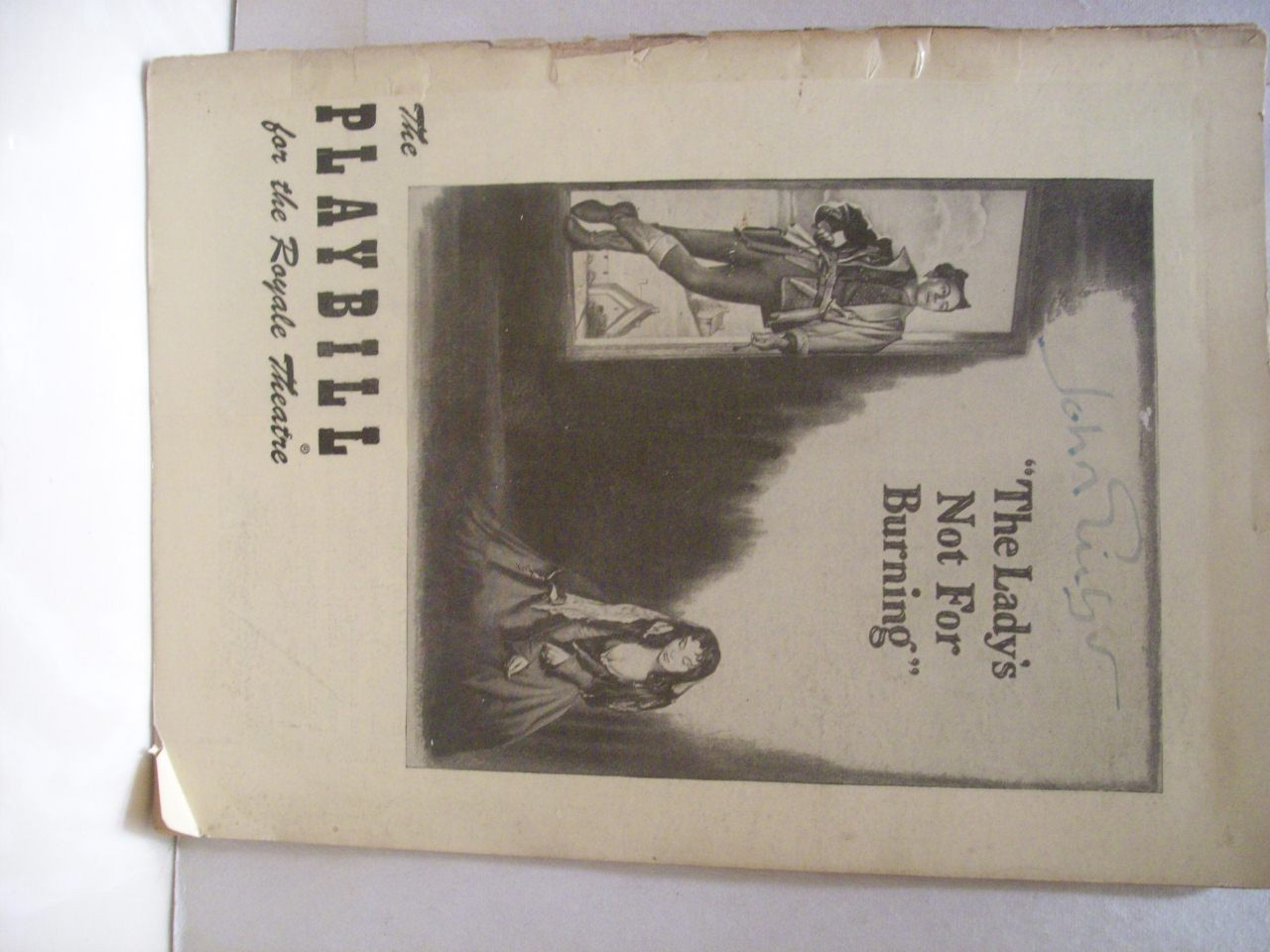 Gielgud, John Playbill Signed Autograph The Lady's Not For Burning 1950