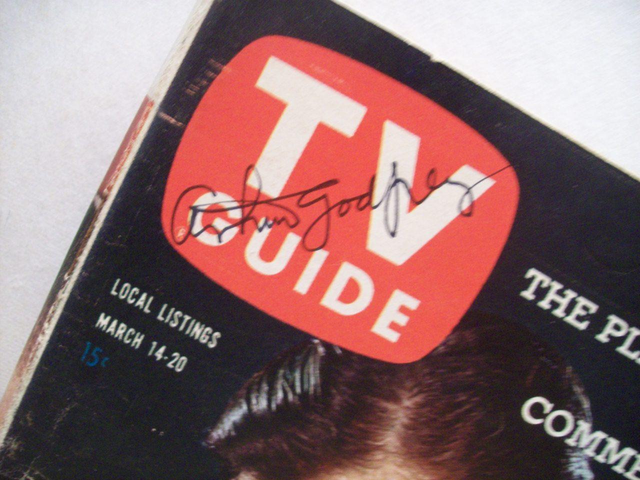 Godfrey, Arthur TV Guide Signed Autograph 1959