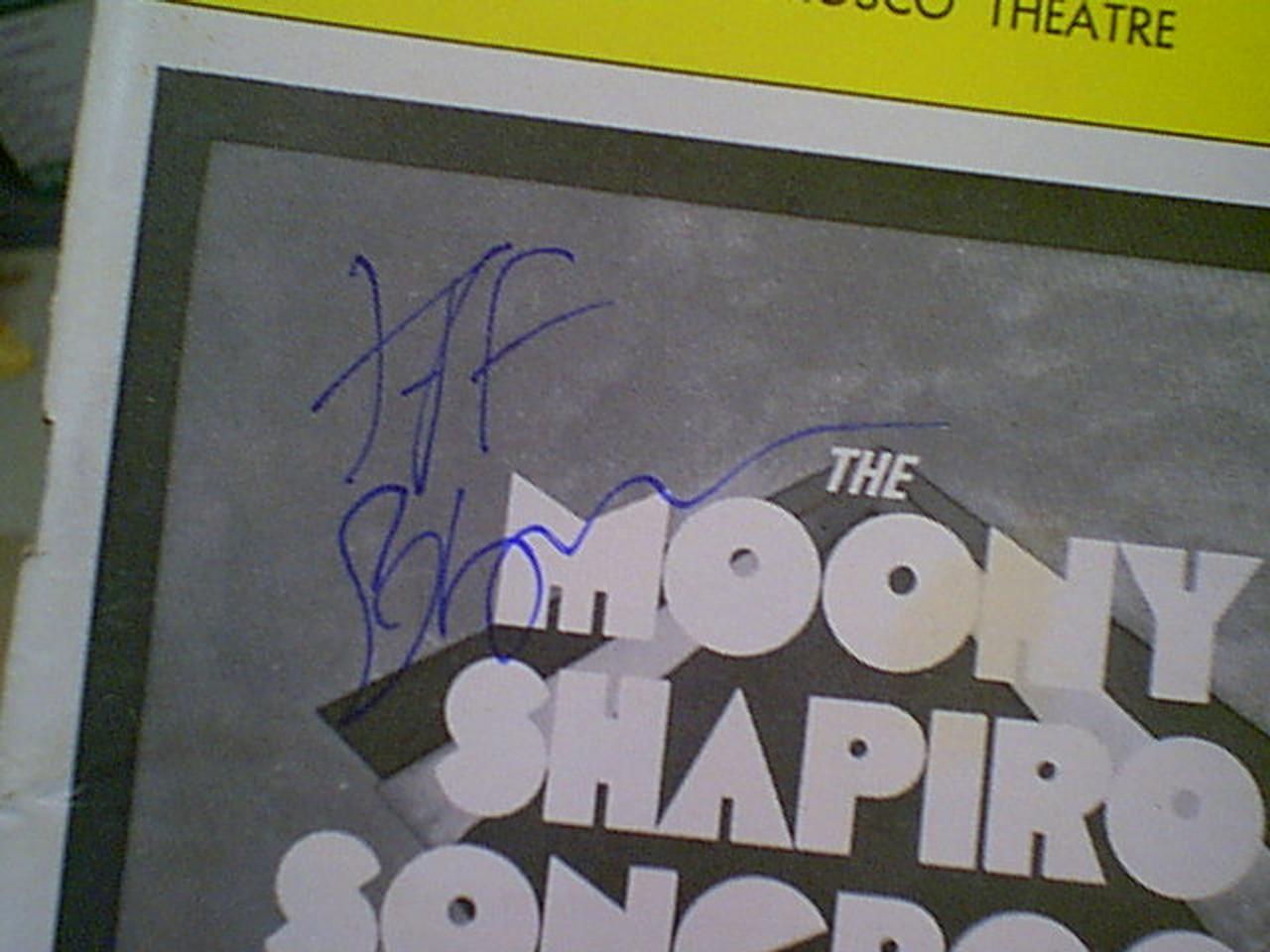 "Goldblum, Jeff ""The Moony Shapiro Songbook"" 1981 Playbill Signed Autograph"